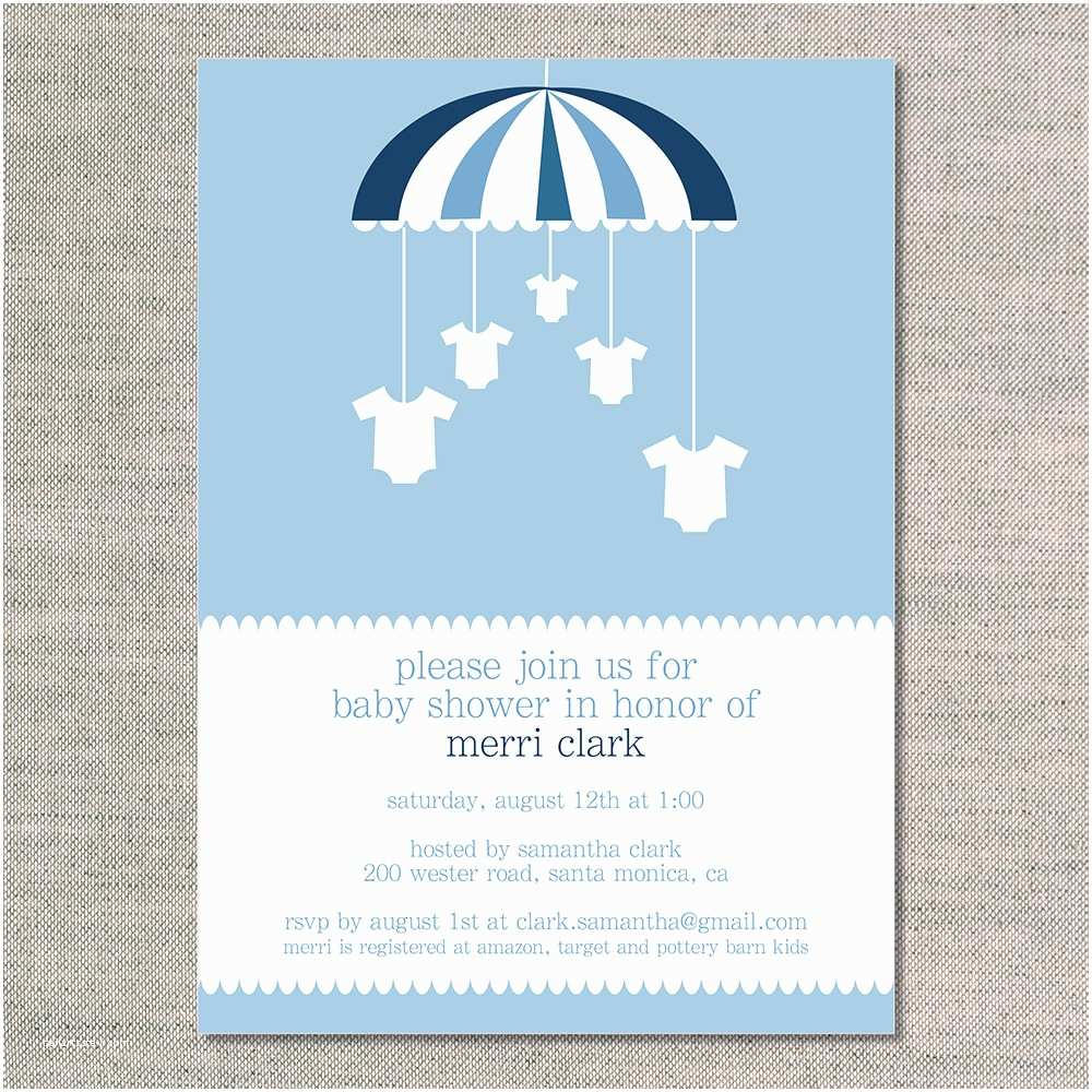 blank baby showers invitations