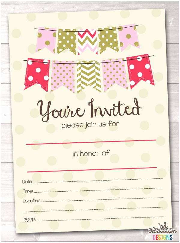Blank Birthday Invitations 7 Blank Party Invitations Free Editable Psd Ai Vector