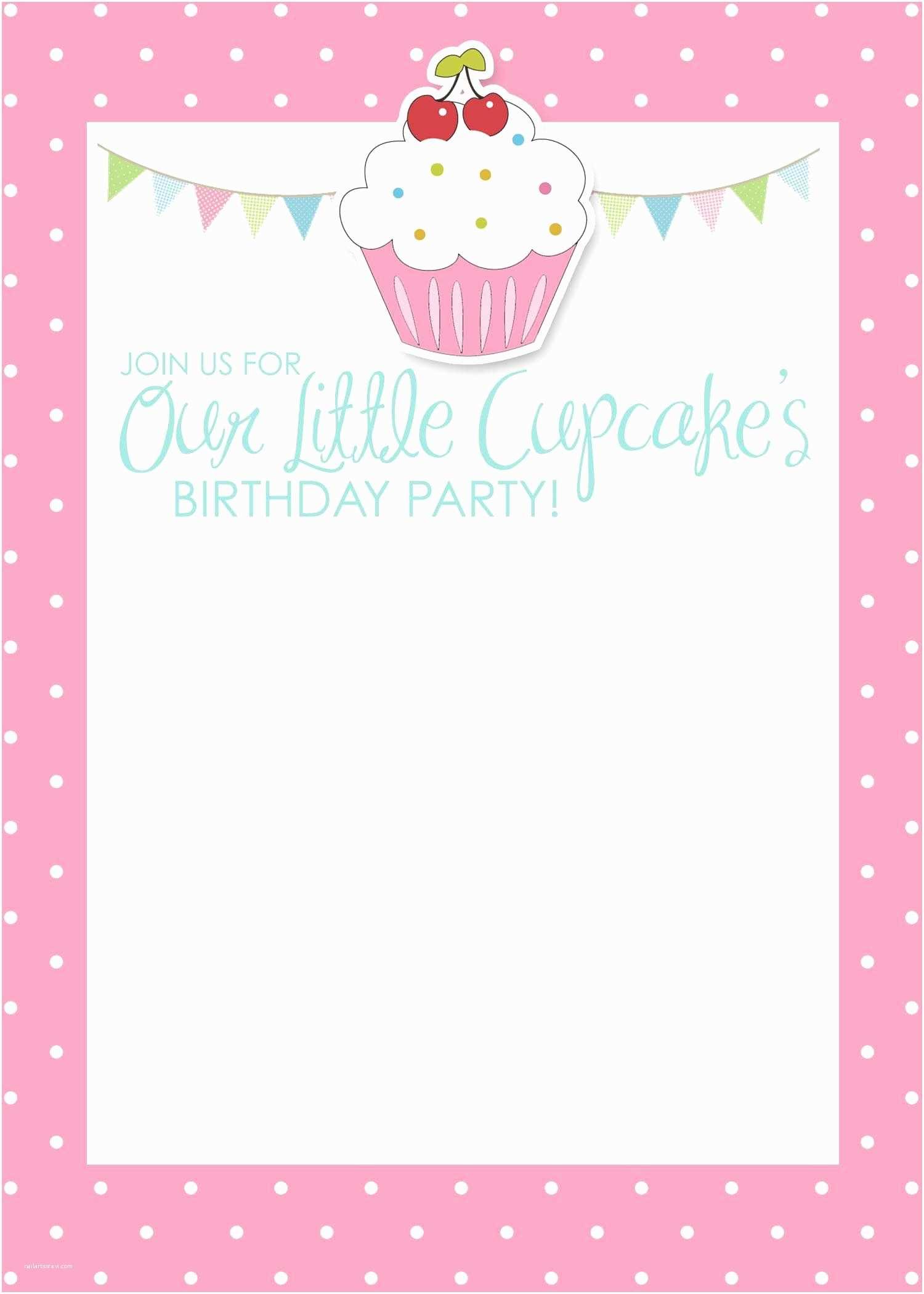 Blank Birthday Invitations Birthday Invitation Card Template Free