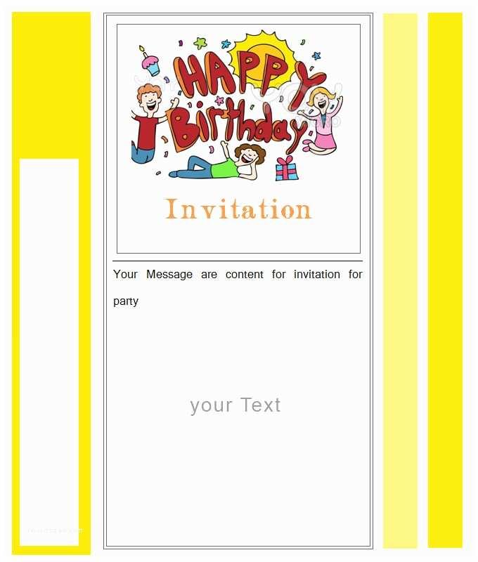 Blank Birthday Invitations Blank Birthday Invitation Template Free – orderecigsjuicefo