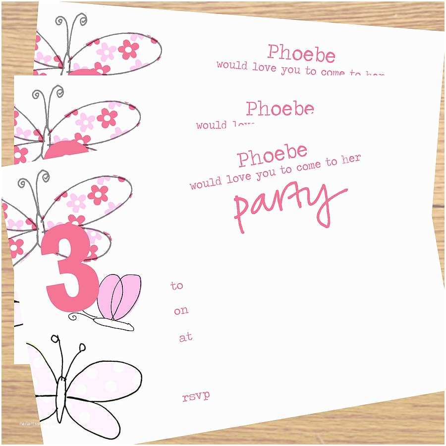 Blank Birthday Invitations Blank Birthday Invitations for Girls