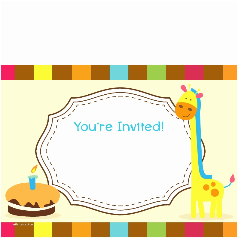 Blank Birthday Invitations Blank Birthday Invitations