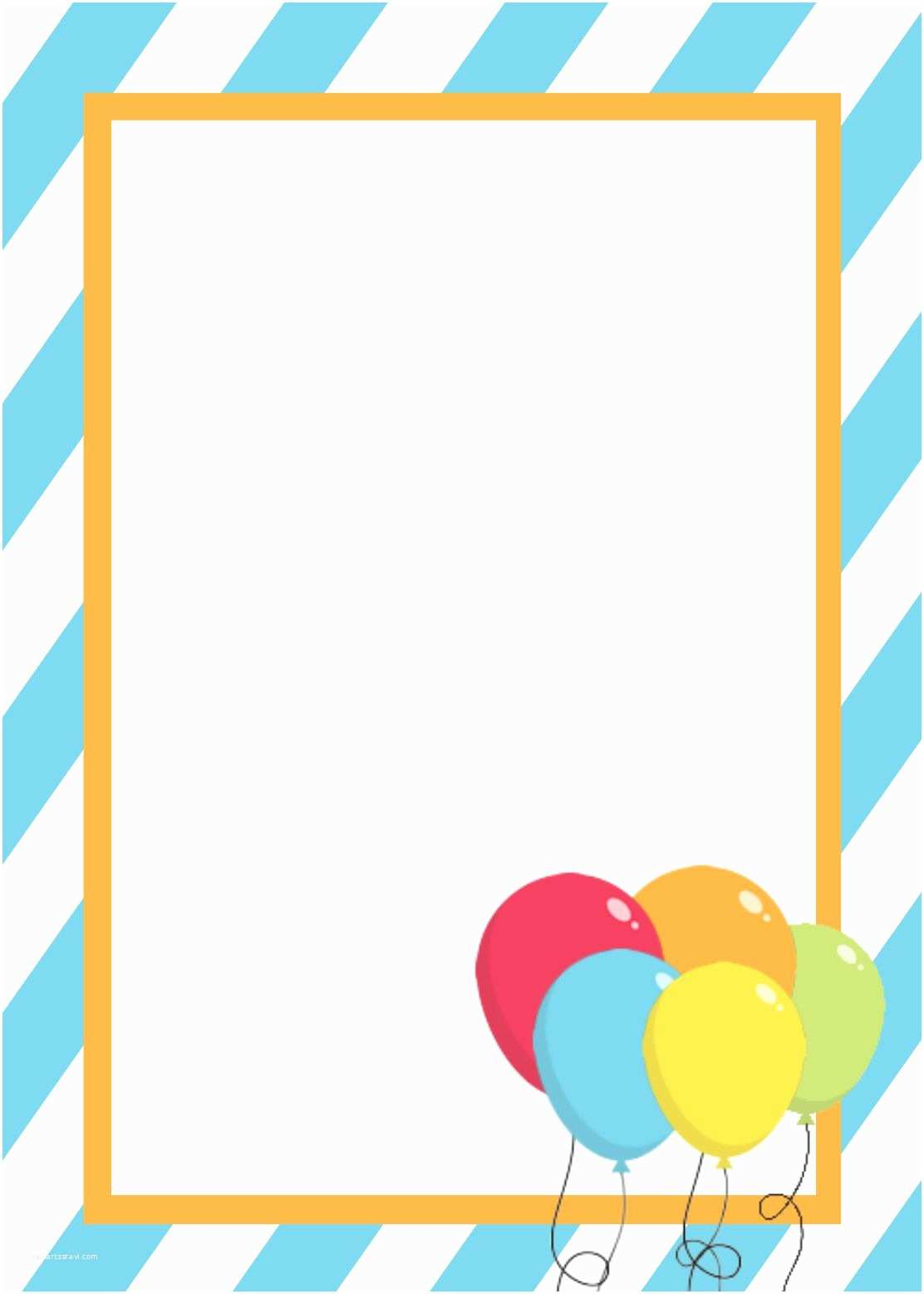Blank Birthday Invitations Blank Invitation Templates Free for Word Blank