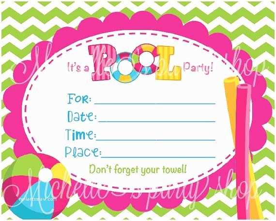 Blank Birthday Invitations Blank Invitations for Girls Turning 12
