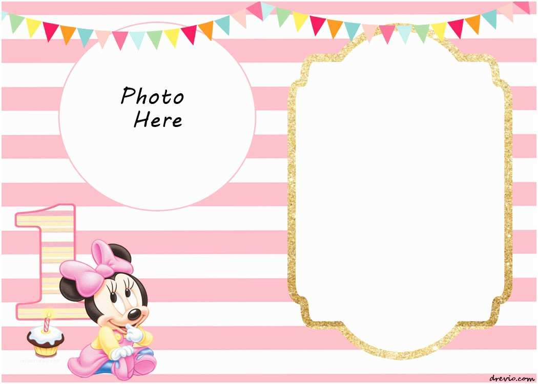 Blank Birthday Invitations Free Printable Minnie Mouse Birthday Invitations