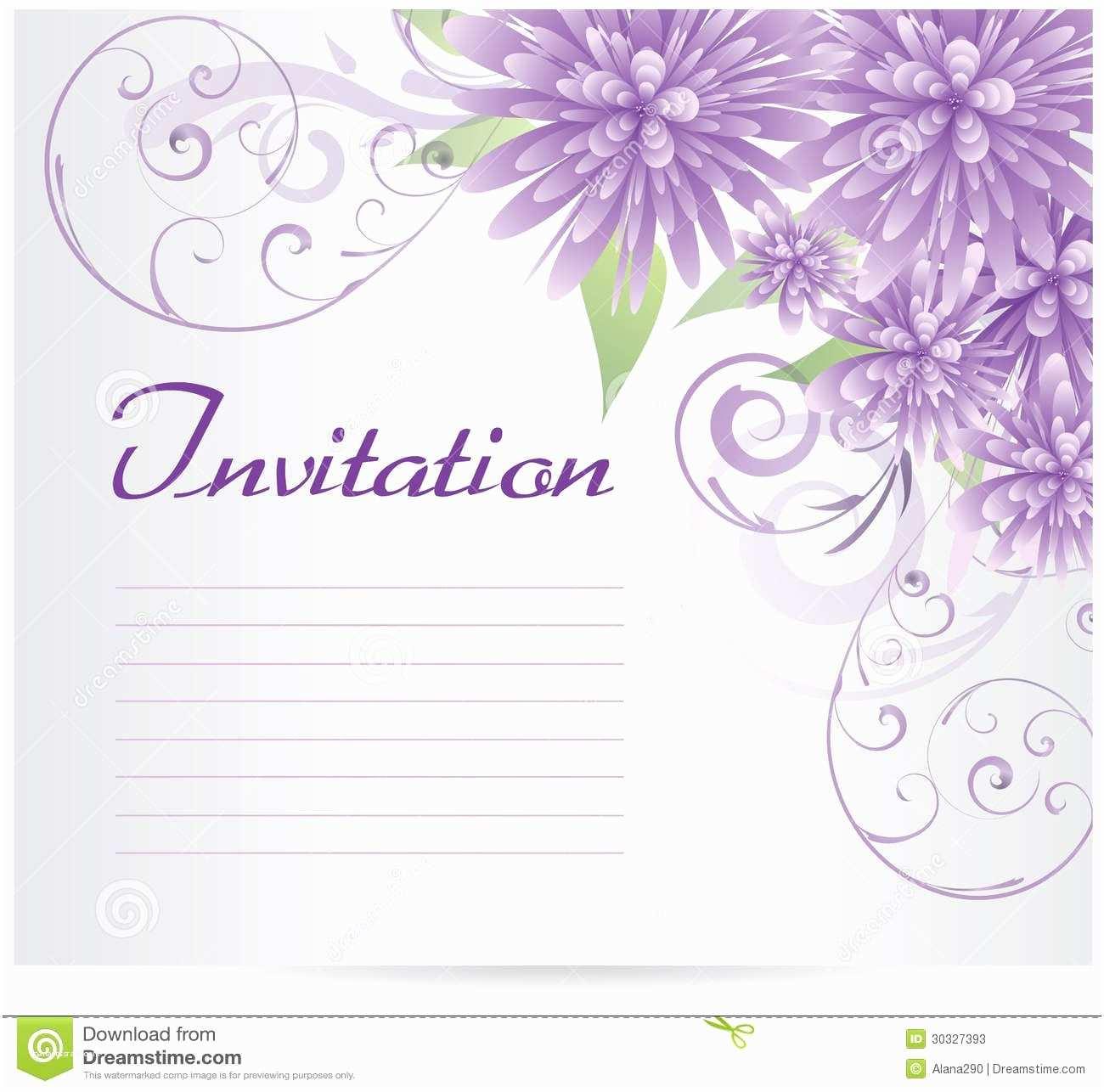 Blank Birthday Invitations Invitation Blank Template