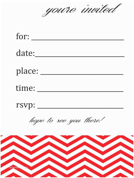 Blank Birthday Invitations Items Similar to General Blank Chevron Birthday or Party
