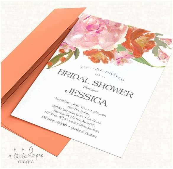 Blank Bridal Shower Invitations 26 Free Printable Invitation Templates Ms Word Download