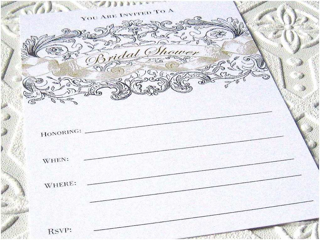 Blank Bridal Shower Invitations Bridal Shower Fill In Blank Invitations Set by Inkadinkadoodle