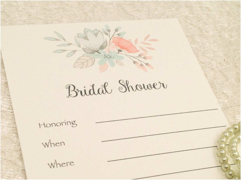Blank Bridal Shower Invitations Fill In Blank Invitations Bridal Shower Invites Floral Shabby