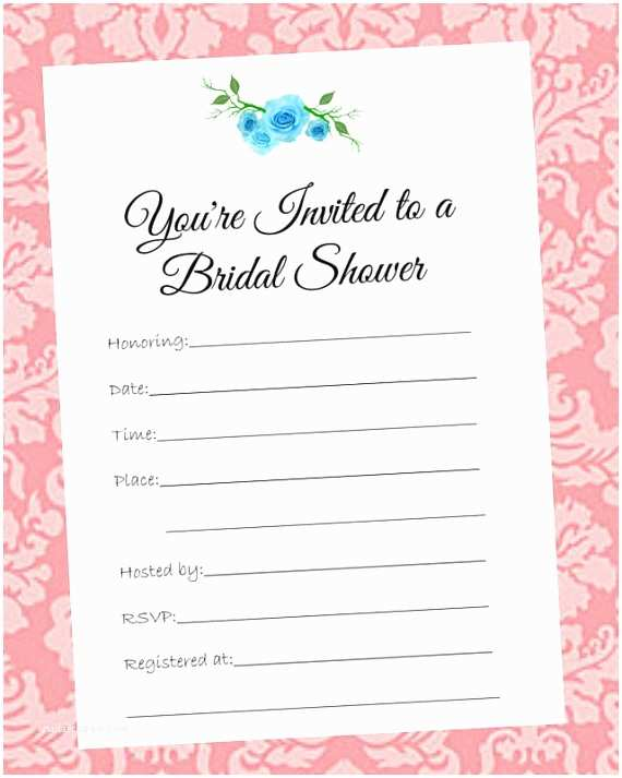 Blank Bridal Shower Invitations Items Similar to Wedding Bridal Shower Invitations