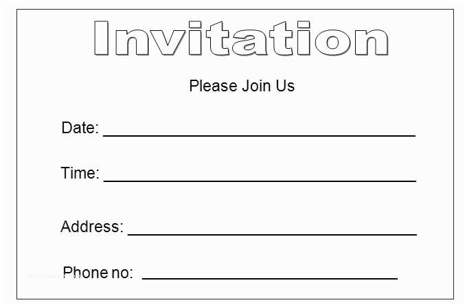 Blank Party Invitations 27 Best Blank Invitation Templates Psd Ai