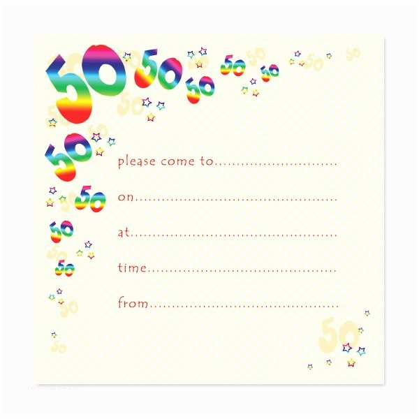 Blank Party Invitations Blank 50th Birthday Party Invitations Templates