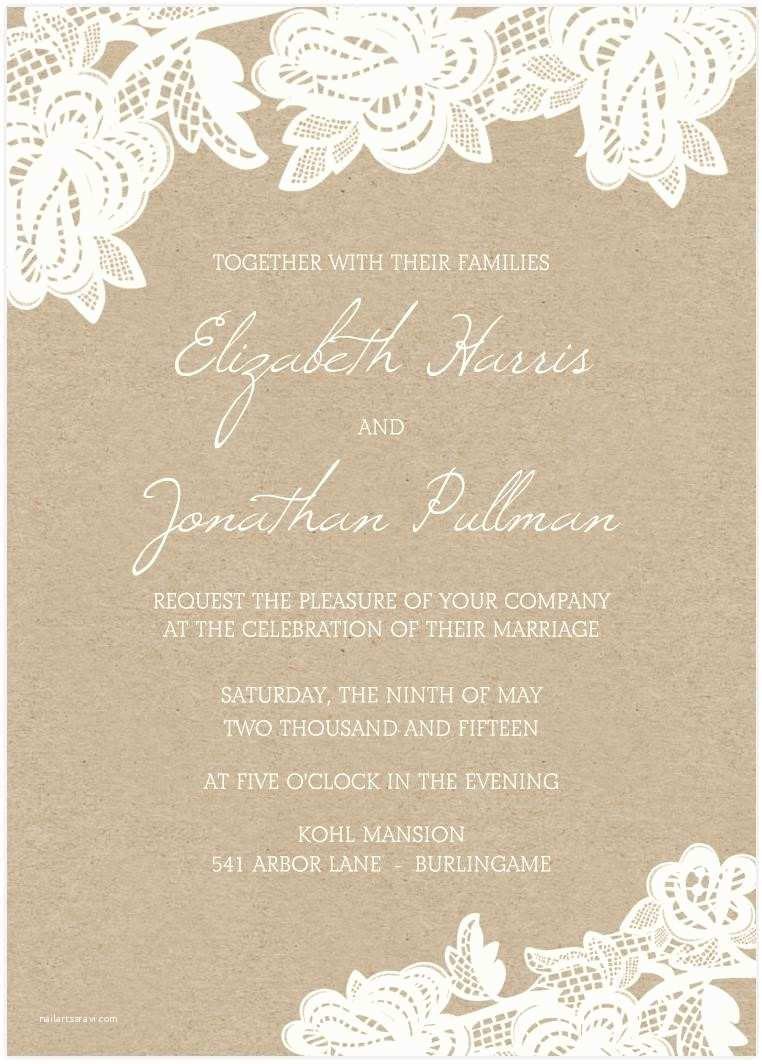 Blank Wedding Invitation Kits Buy and Invite Template Resume Builder
