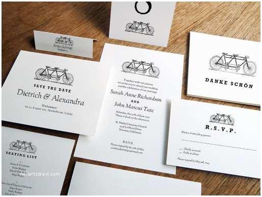 Blank Wedding Invitation Kits Printable Wedding Invitation Kit Tandem Bicycle Black