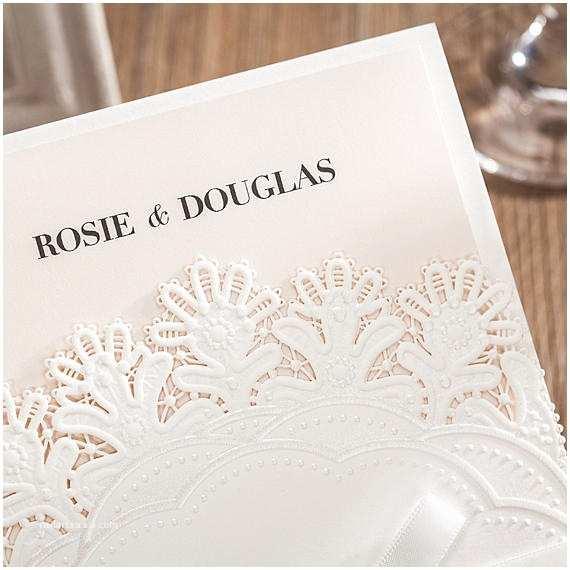 Blank Wedding Invitation Sets 12 Elegant White and Pink Wedding Invitation Set White Bow