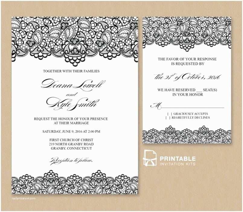 Blank Wedding Invitation Stock Invitation Template Elegant Blank