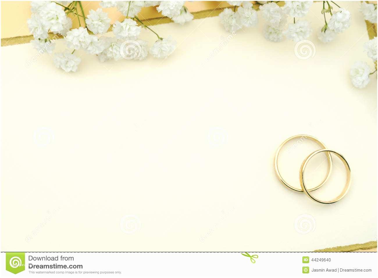 Blank Wedding Invitation Stock Wedding Invitation Stock Image Ring Invi Free