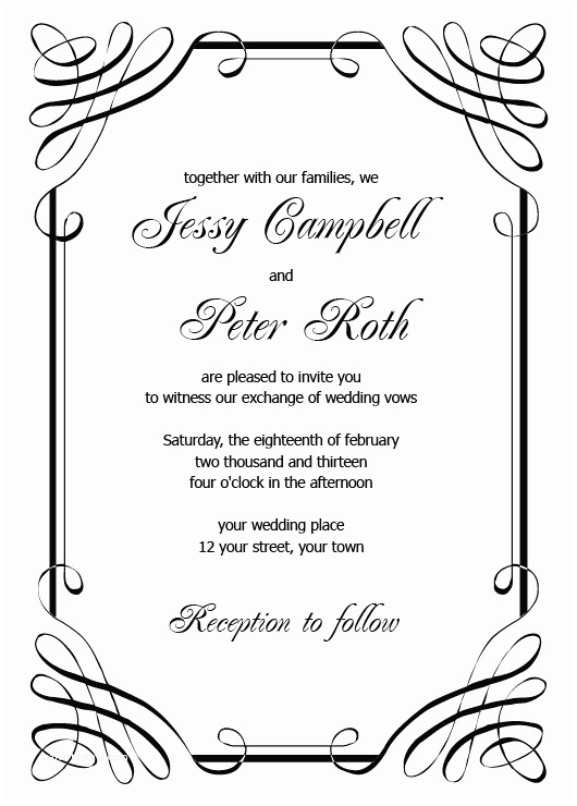 Blank Wedding Invitation Templates Blank Wedding Invitation Templates Download