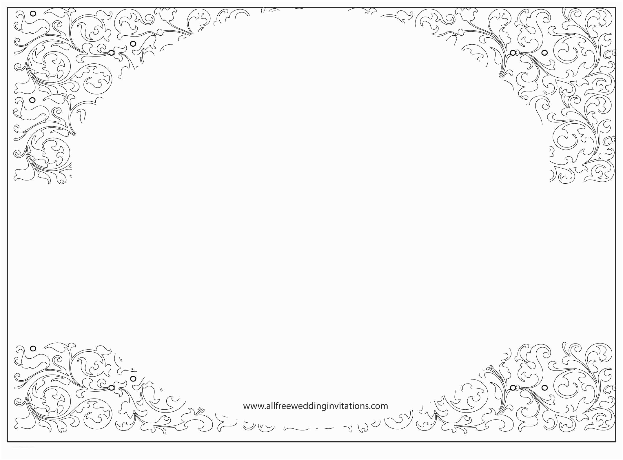 Blank Wedding Invitations Black
