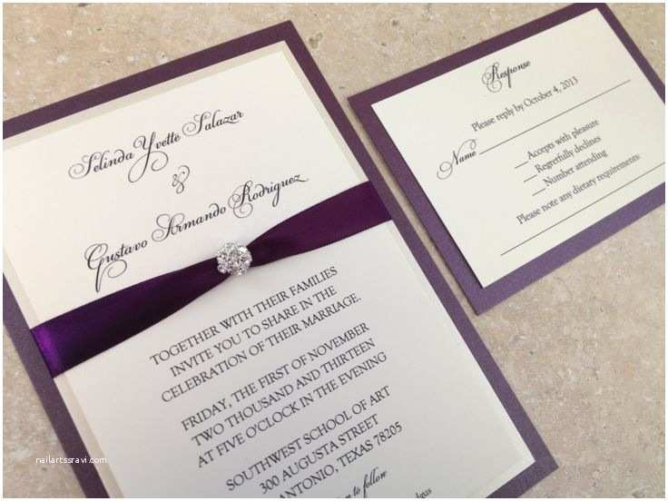 Bling Wedding Invitations Bling Wedding Invitation Crystal Jewel Unique by