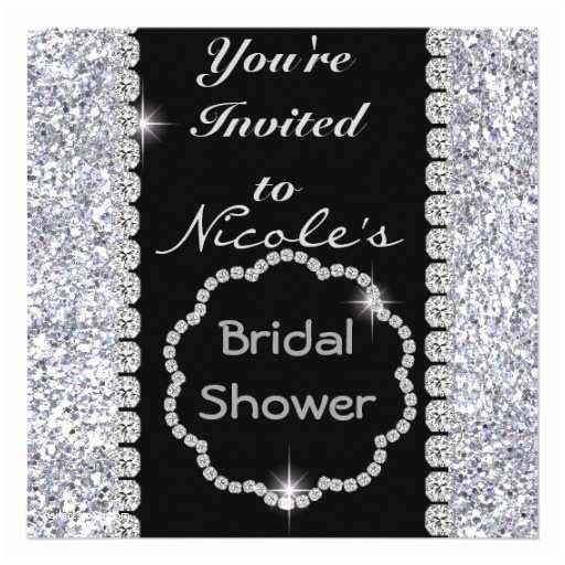 Bling Wedding Invitations Bridal Shower Invitations Bridal Shower Invitations with