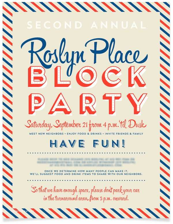 Block Party Invitation Template Gangcraft