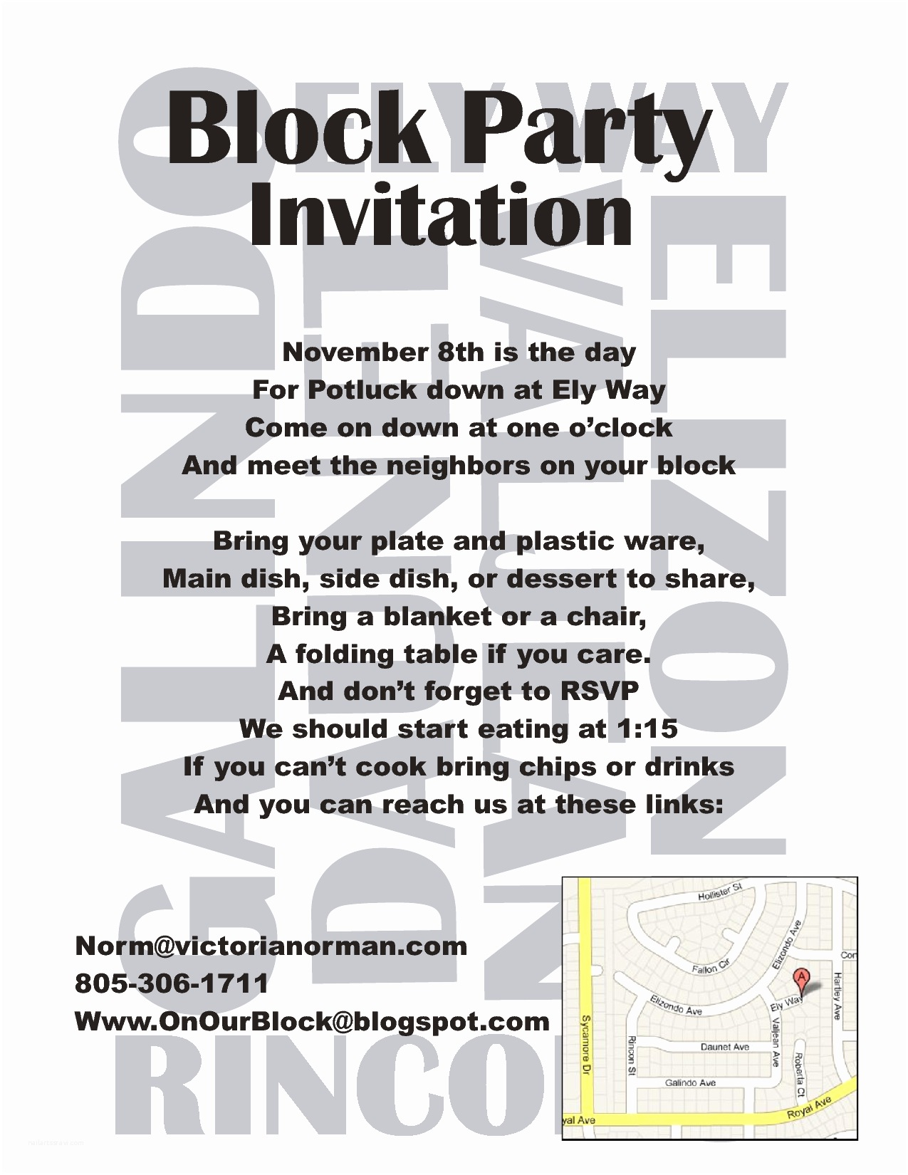 Block Party Invitation Block Party Invitation Template Nailartssravi