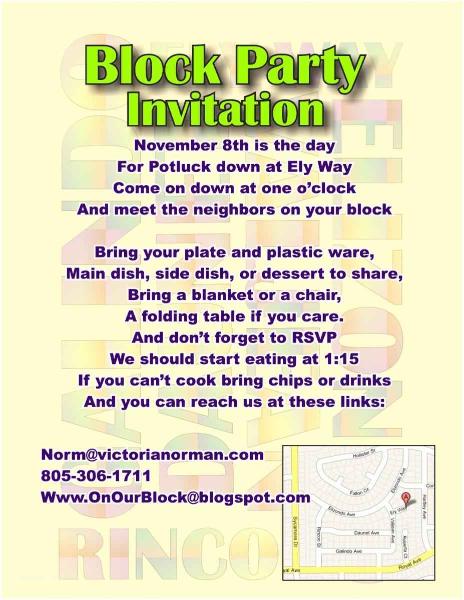Block Party Invitation Block Party Invitation Template