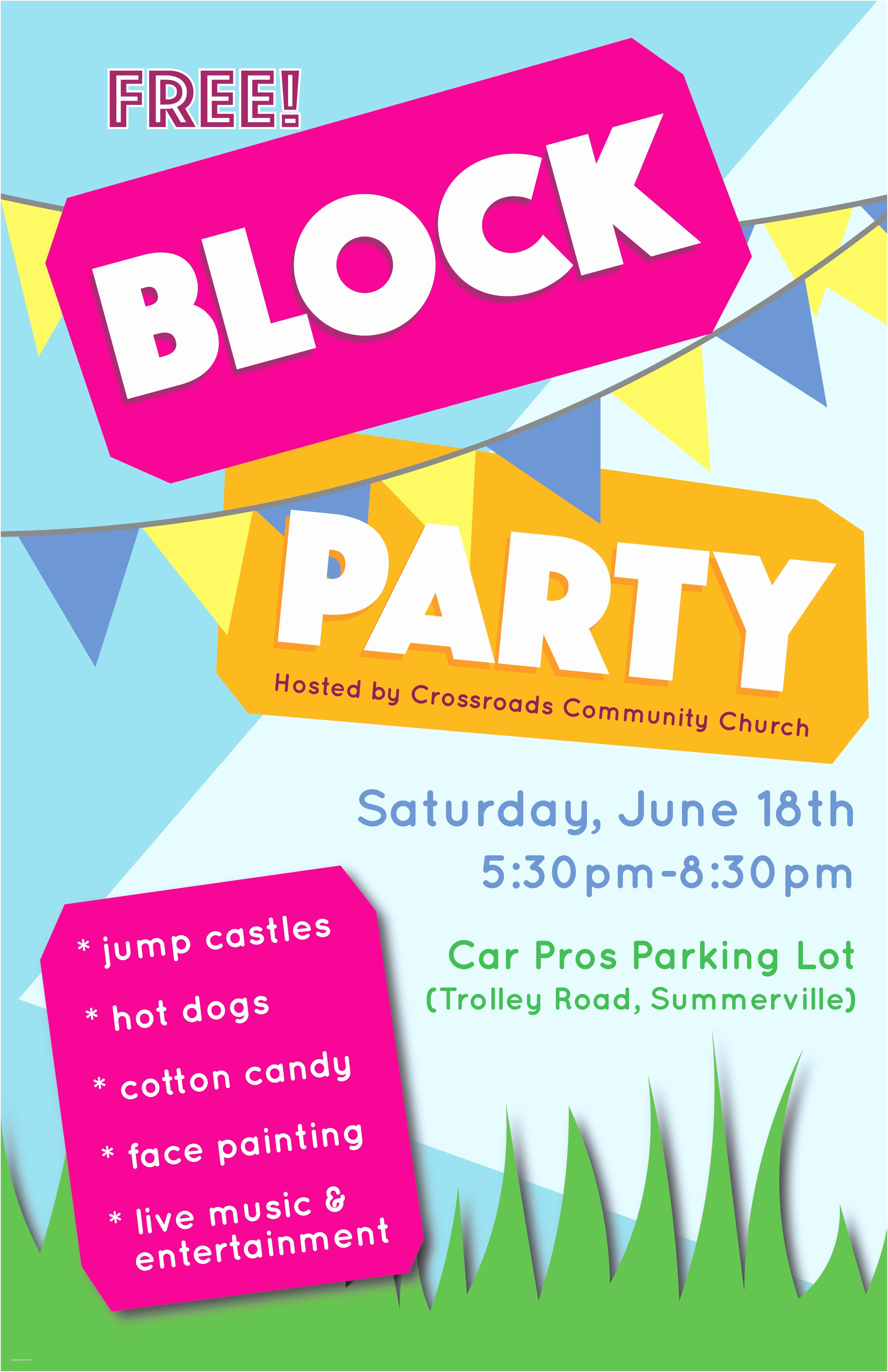Block Party Invitation Block Party
