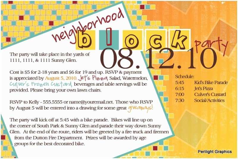 Block Party Invitation Invite124