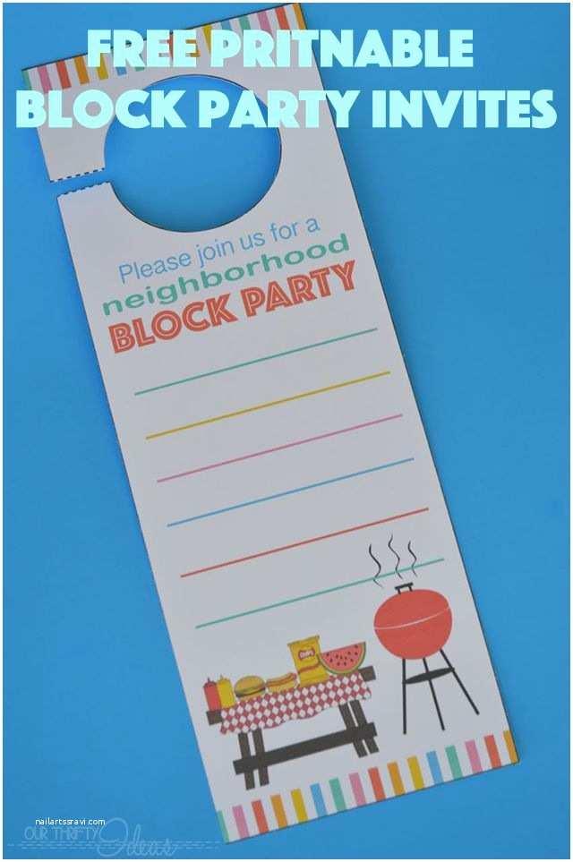 Block Party Invitation Neighborhood Block Party Invitation Free Printable Our