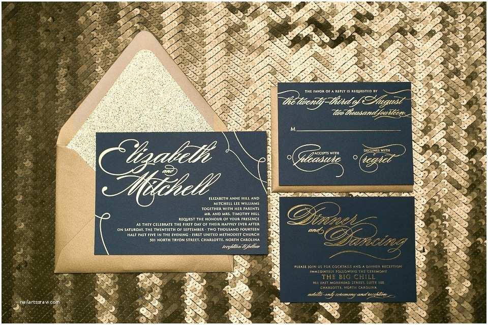 navy blue and gold wedding invitations uk
