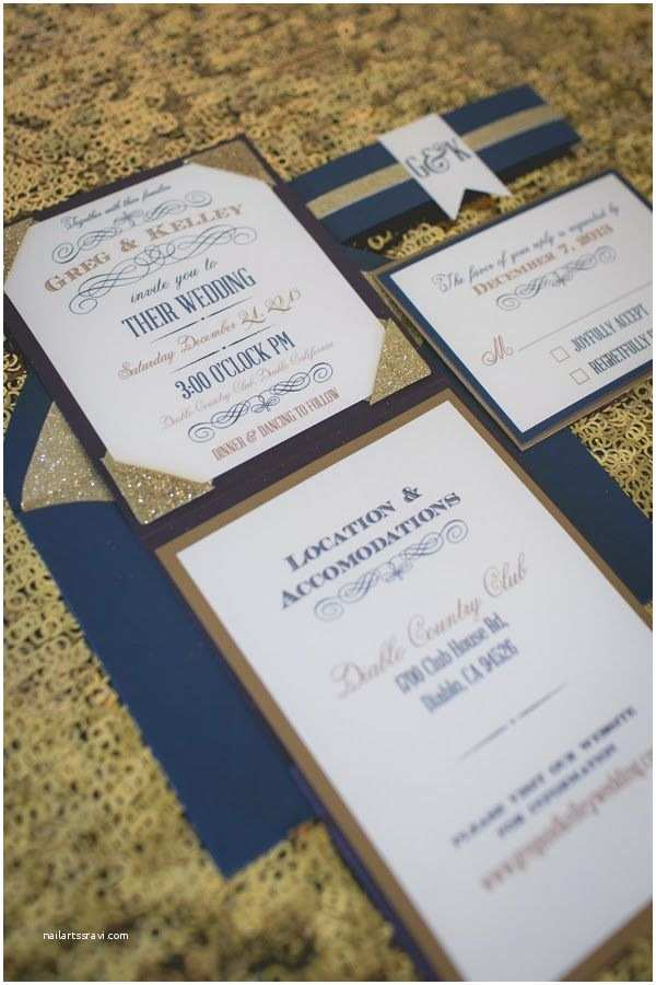 Blue and Gold Wedding Invitations Winter Wedding the Frosted Petticoat