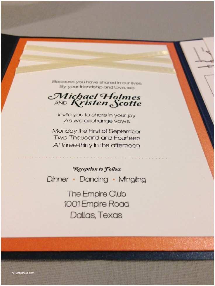 Blue and orange Wedding Invitations 8 Best Navy Blue and orange Wedding Invitation Set Images