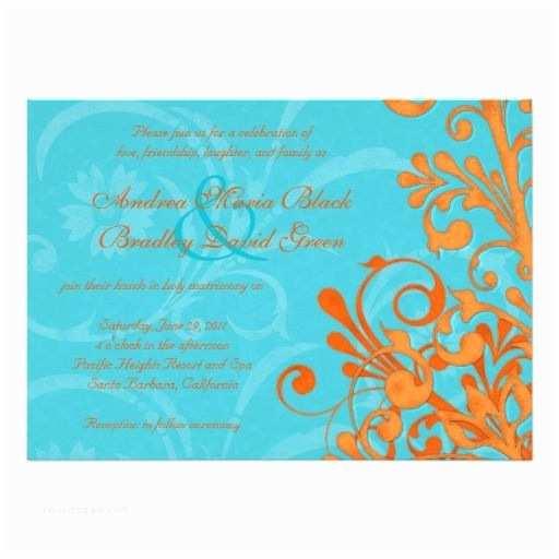 Blue and orange Wedding Invitations 95 Best Images About Blue and orange Wedding Colors On