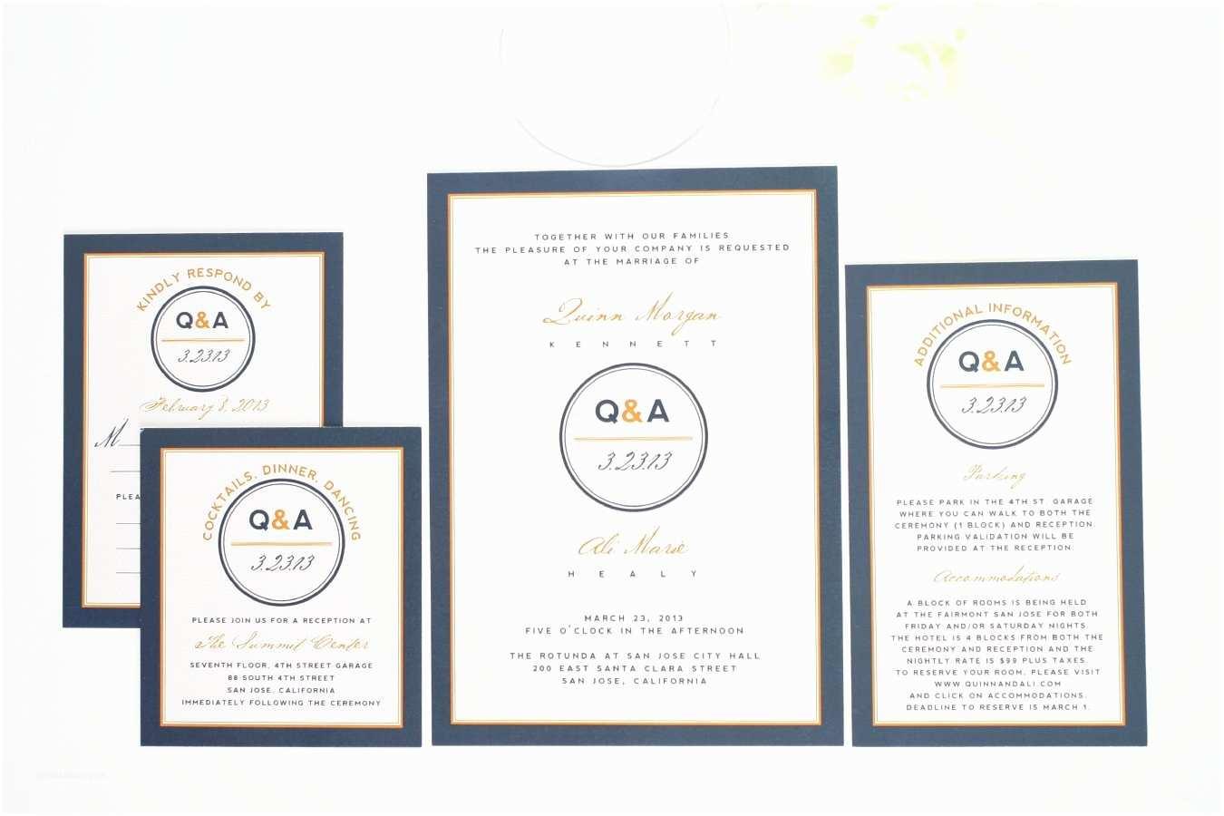 Blue and orange Wedding Invitations Contemporary Wedding Invitations In Navy Blue and orange