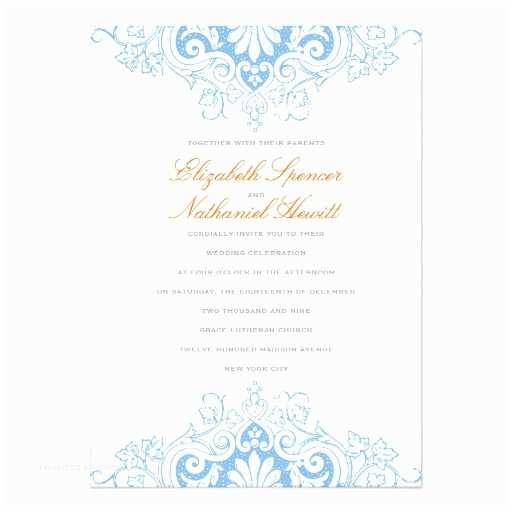 Blue and orange Wedding Invitations Lavish Love Wedding Invitation In Blue & orange