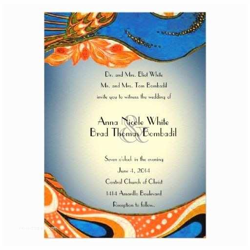Blue and orange Wedding Invitations Royal Blue and orange Wedding Invitations Google Search