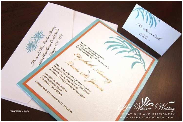 Blue and orange Wedding Invitations Templates Royal Blue and orange Wedding Invitations with