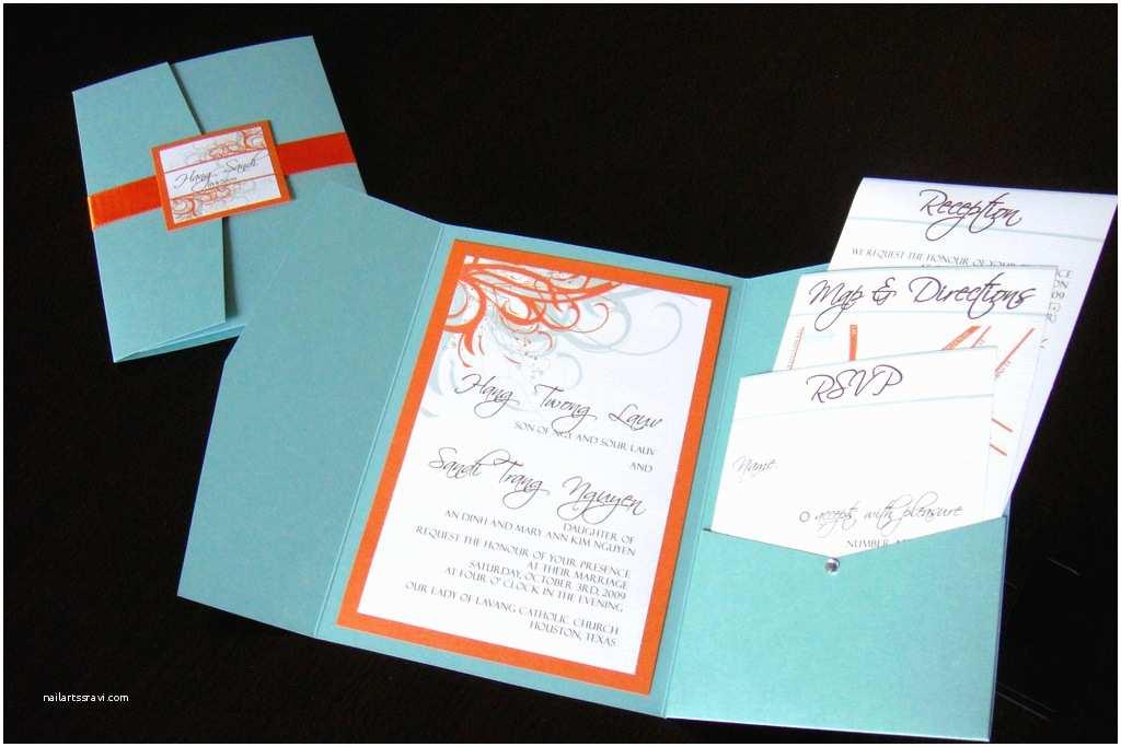 Blue and orange Wedding Invitations Wedding Invitations Blue orange