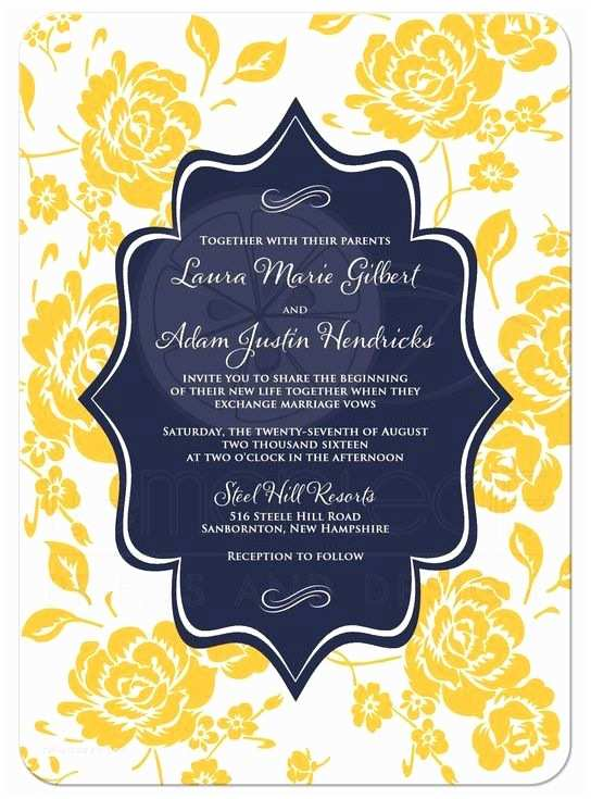 Blue and Yellow Wedding Invitations 23 Best Navy Blue Yellow White Wedding theme Images On