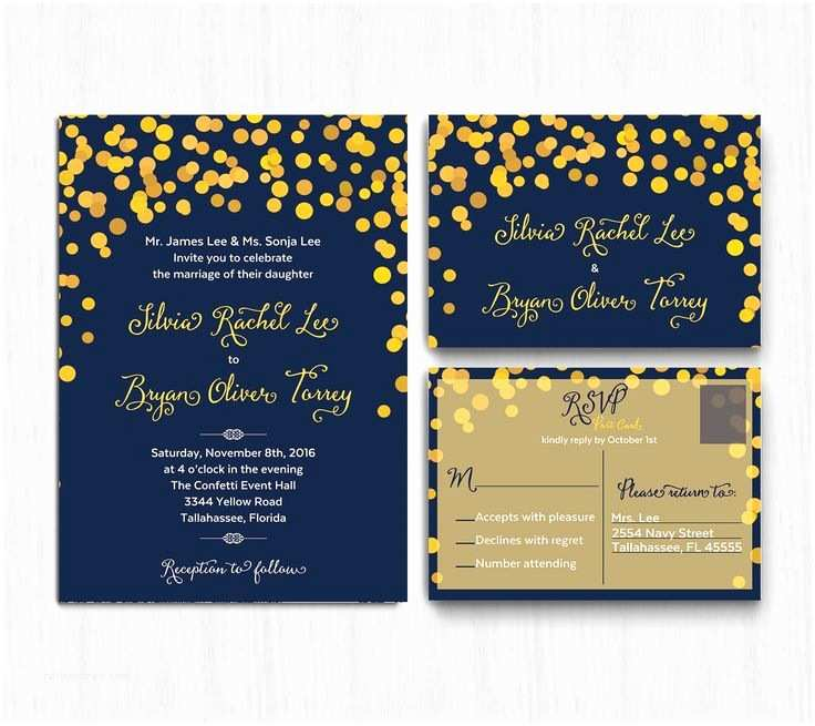 Blue and Yellow Wedding Invitations 2484 Best Navy Wedding Invitations Images On Pinterest