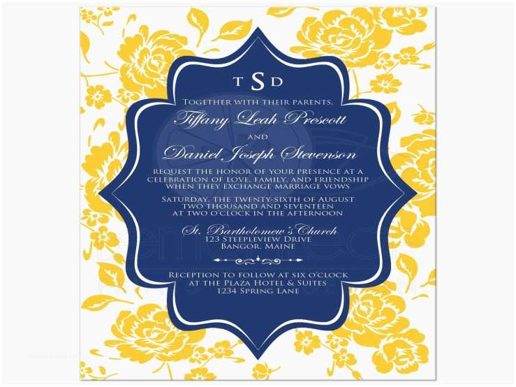 Blue and Yellow Wedding Invitations How Navy Blue and Yellow Wedding Invitations is Going to