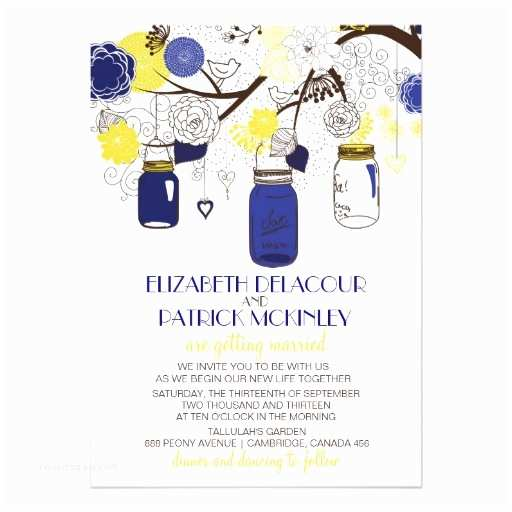 Blue and Yellow Wedding Invitations Wedding Invitation Wording Wedding Invitation Templates