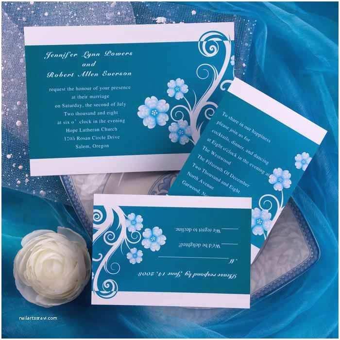 Blue Wedding Invitations Bud Rustic Blue Floral Wedding Invitations Ewi160 as