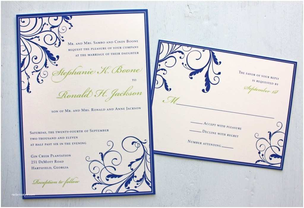 Blue Wedding Invitations Excellent Royal Blue Wedding Invitations