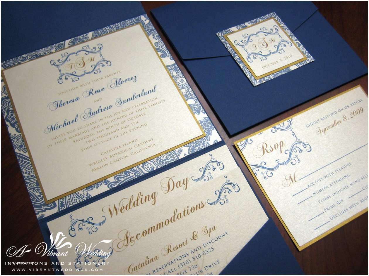 Blue Wedding Invitations Navy Blue Wedding Invitation – A Vibrant Wedding