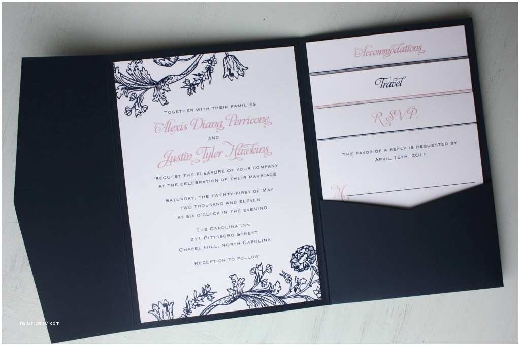 Blue Wedding Invitations Navy Blue Wedding Invitations – Gangcraft