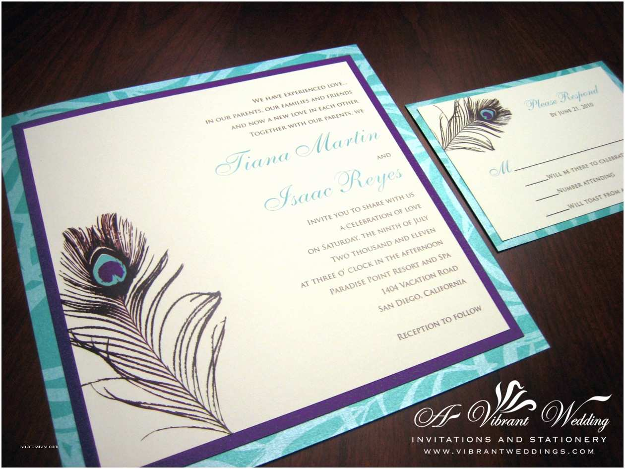 Blue Wedding Invitations Purple and Blue Invitation – A Vibrant Wedding